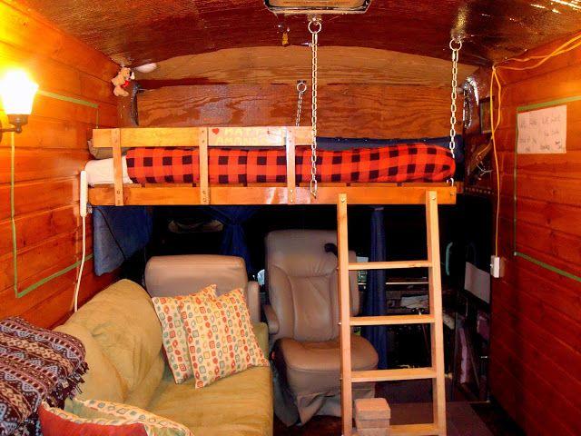 Bunk Loft Over Drivers Seat Skoolie Bus Skoolie New