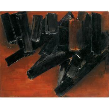 Pierre Soulages | Peinture 12 Novembre 1956