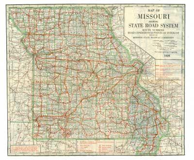1926 Missouri Highway Map