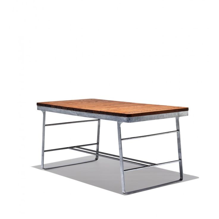 The Newest Addition To Our Flint Collection The Flint Bar Table Is Super  Scandinavian! The Flint Dining Table Pairs Tight Wooden Slats With Sleek  Steel Legs ...