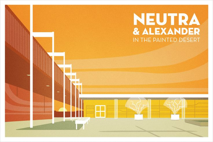 Neutra and Alexander in the Painted Desert on Behance