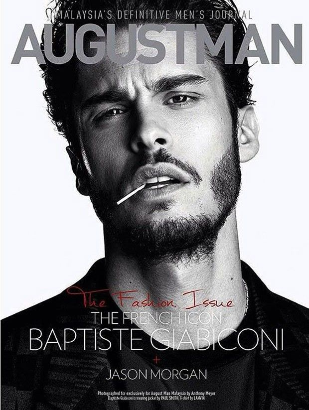 Male Fashion Trends: Baptiste Giabiconi en portada de August Man Malasia Septiembre 2015