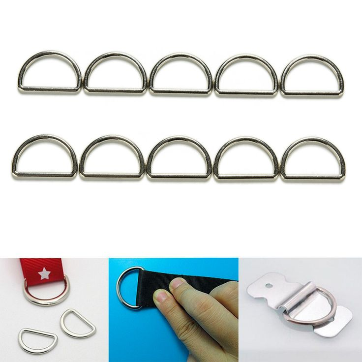 10 stück metall splitter d ring d  Ringe geldbörse ring schnallen für gurtband…