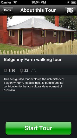 Apple App for belgenny Farm Walking Tour
