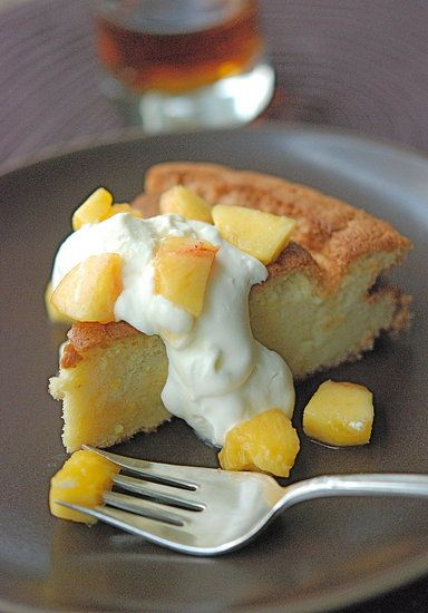 Olive Oil Amp Sauternes Cake With Peaches Adapted From The