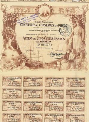 Société des Confitures et Conserves du Prado, Marseille, 1919