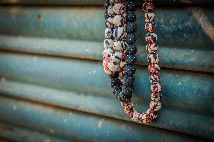 machapu ethnic folk jewellery, handmade fabric jewellery