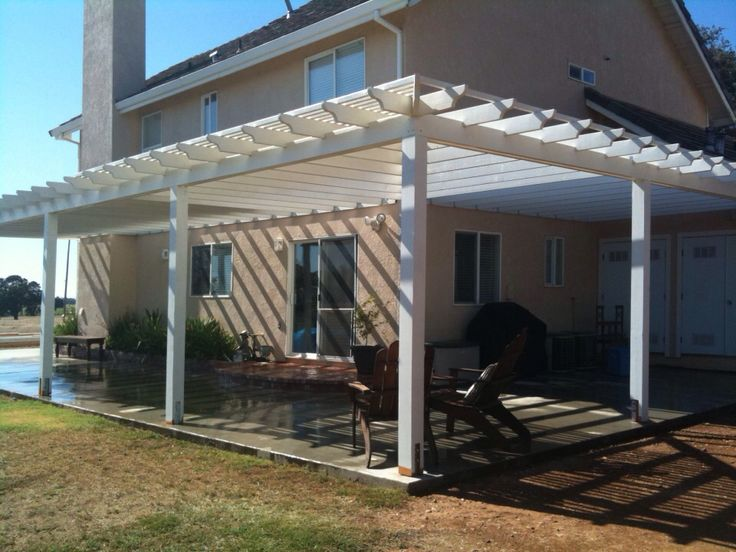 Pergolas attached to house going around corner google search projects to try pinterest - Eigentijds pergola design ...