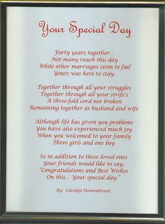 50th anniversary speech to parents from daughter - Google Search