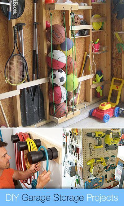 DIY Garage Storage Projects • Lots of Ideas & Tutorials!: