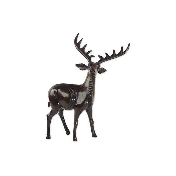 NOVICA West African Ebony Polished Carved Brown Deer Sculpture (€105) ❤ liked on Polyvore featuring home, home decor, brown, clothing & accessories, sculpture, deer sculpture, animal sculptures, wooden sculptures, novica and wood home decor