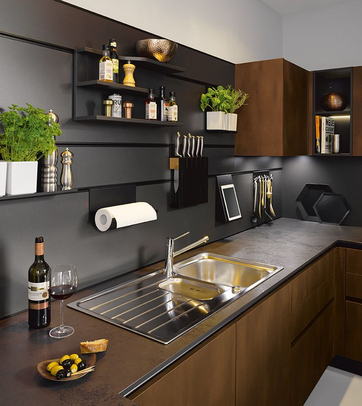 Targa steel bronze schüller schullerkitchens germankitchens kitchenlighting modernkitchens kitchenideas