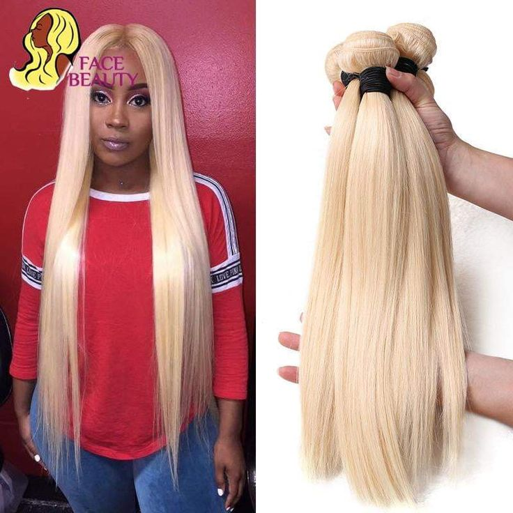 Facebeauty 613 Blonde 1/3/4 Brazilian Hair Bundle Straight Weave Re…