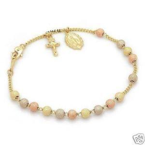 14k Gold Rosary Bracelet 3 Golds Www Estherleejewel