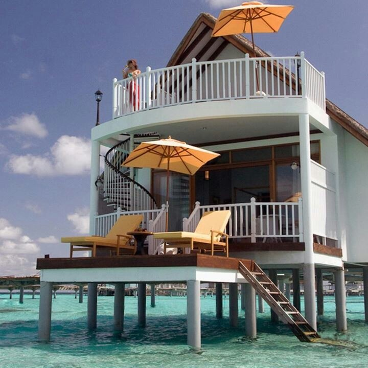 Beach house or water house? Crazy awesome!