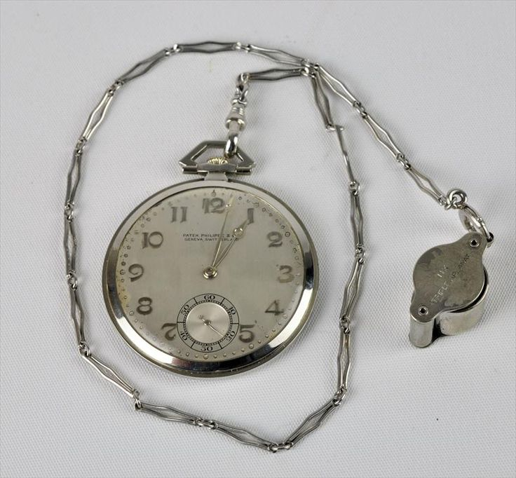 Vintage Parek Philippe Pocket Watch in white gold & platinum, 1930's / platinum is a real 'heavyweight ' ( in more ways than one ) heavy metal and this heavyweight contender defeats ALL other watch brands for the title of finest watch brand on Earth ( as repeatedly voted to top spot year after year in all watch surveys !! )
