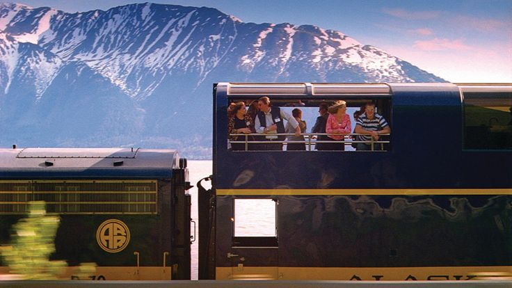 10 most scenic train rides in America. #4Alaska Denali Star from Anchorage to Fairbanks