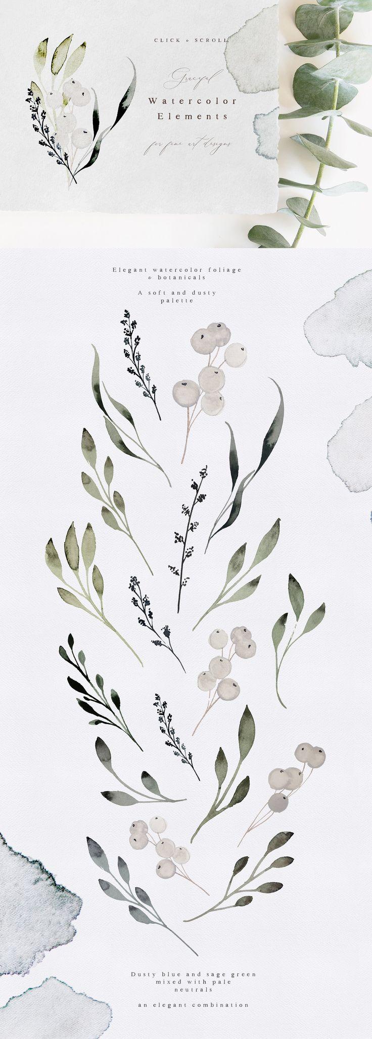 Hazel - Artisan Flowers & Watercolor by Laras Wonderland on @creativemarket