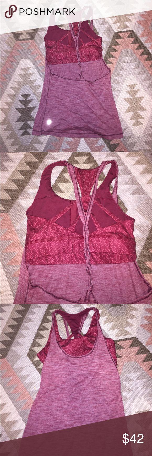 Lulu lemon cris cross back top Size 4, light wear. No padding in bra. Open to offers lululemon athletica Tops Muscle Tees