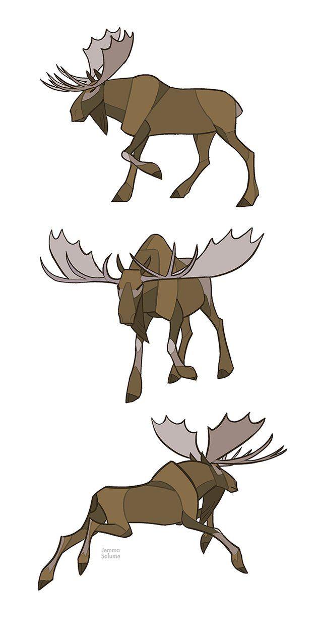 elanden stier - oren achter gewei