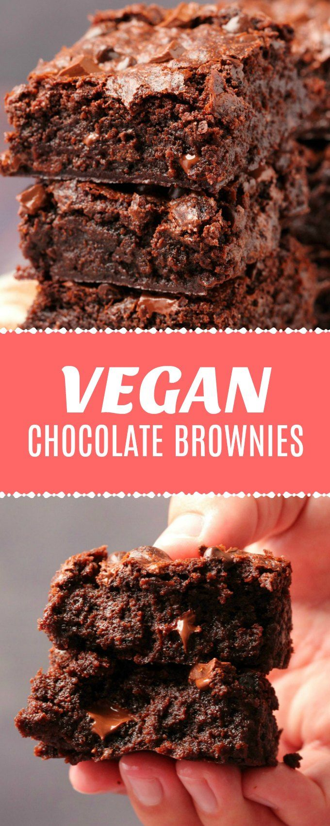 Vegan chocolate brownies that are ultra moist, mega chocolatey, dense, fudgy and…