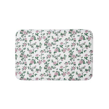 Stylized creamy pink roses bathroom mat - antique gifts stylish cool diy custom
