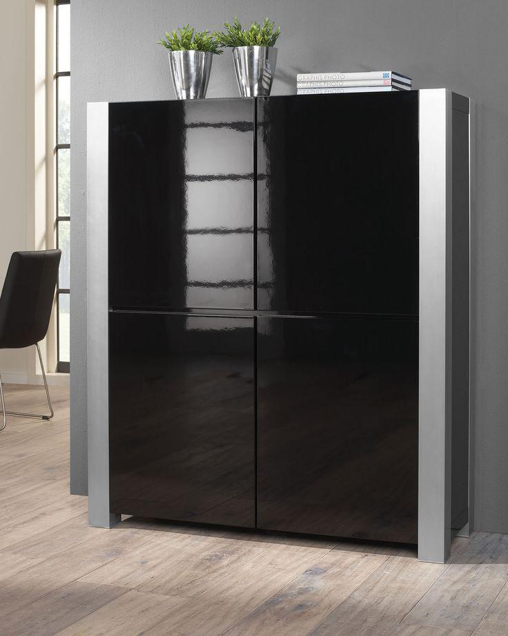 die besten 25 sideboard schwarz hochglanz ideen auf. Black Bedroom Furniture Sets. Home Design Ideas