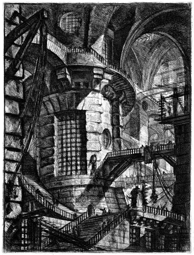 """Giovanni Battista Piranesi's """"Imaginary Prisons"""", 1745-1750"""