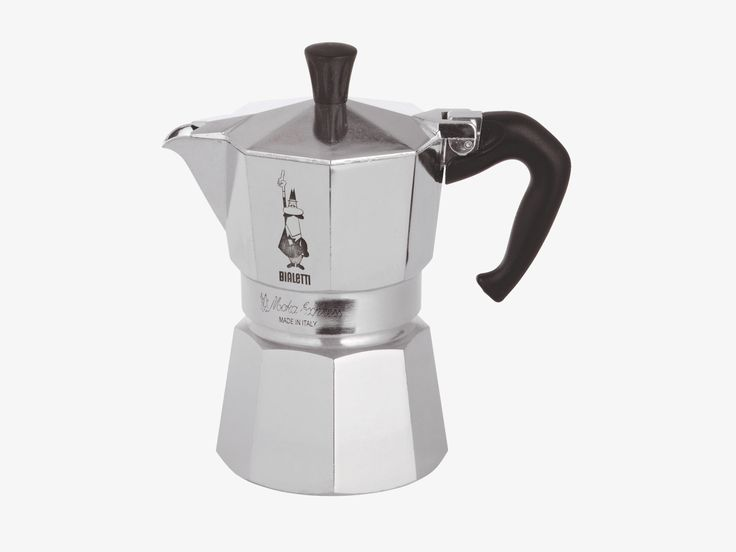 MOKA SILVER Metal 3 cup stove top coffee maker - HabitatUK