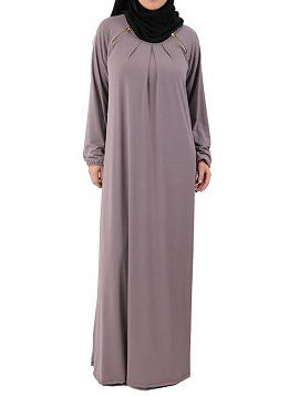 Shoulder Zipper Abaya
