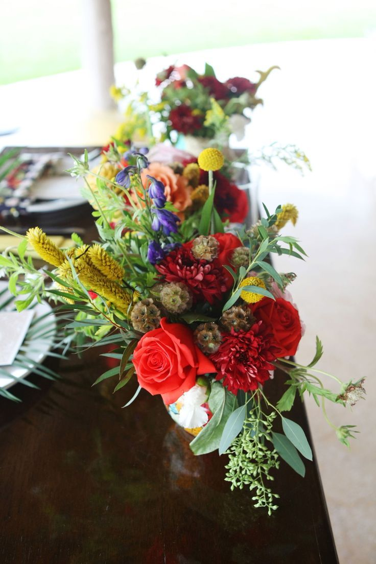 Weddings Flower Arrangements Fun And Colorful Wedding Centerpiece