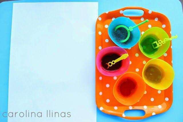 Arte para niños con BURBUJAS de jabón   #Artividades