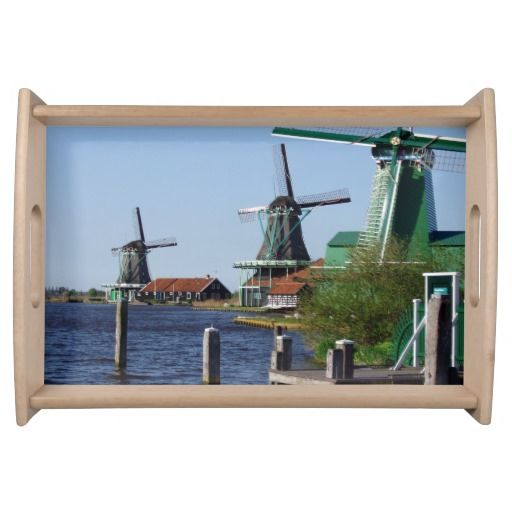 Zaanse Schans Dutch windmills Serving Platter
