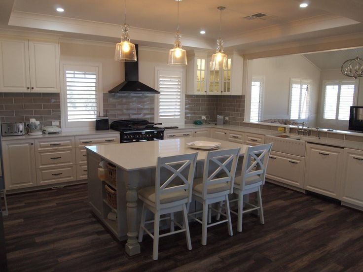 Hampton style kitchen in one of our homes we have built