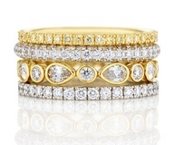Radiant Light - De Beers stackable rings
