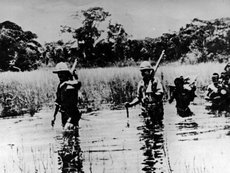 Allied troops in what is now Zambia in vain pursuit of the forces of the elusive German general Paul von Lettow-Vorbeck
