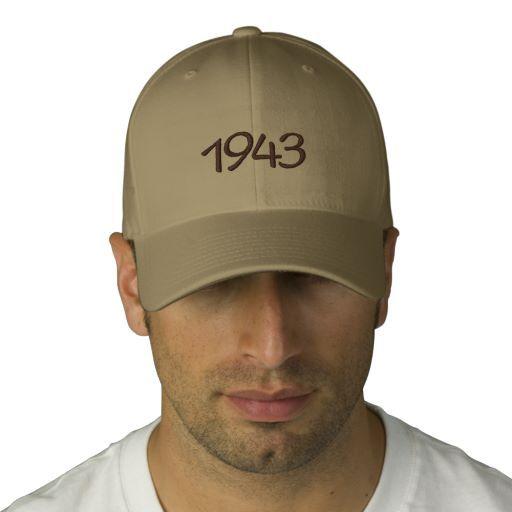 1943 Embroidered Hat #savethedate