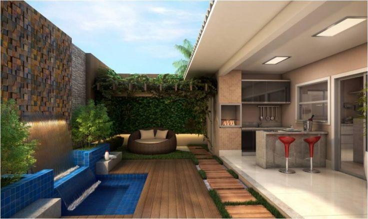 12 varandas modernas com piscinas e pergolados house for Modelos de piscinas modernas