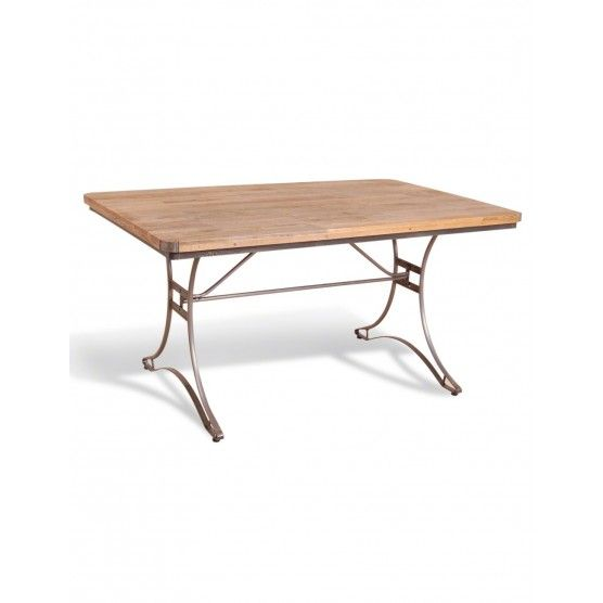 Rose & Grey - Table Legs - Rectangular Industrial Table in Steel and Mango