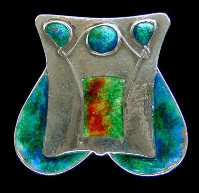 archibald knox | ARCHIBALD KNOX silver & enamel Liberty brooch - Arts & Crafts Jewelry ...