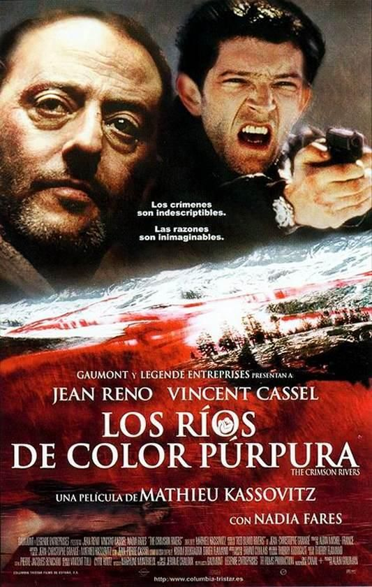 Los Ríos De Color Púrpura (Les Rivières Pourpres) | 2000: Thriller. Acción. Intriga. Director: Mathieu Kassovitz. Reparto: Jean Reno y Vincent Cassel. País: Francia. Duración: 105 minutos