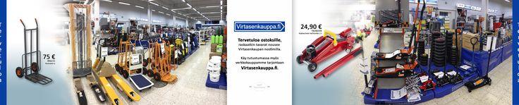 Virtasenkaupasta löytyy vipuvoimaa raskaaseenki nostoon. Lift power from Virtasenkauppa. Facebook 360 panorama image - Virtasenkauppa.