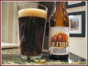 Petrus Oud Bruin is a Flemish sour brown ale.  It is fantastic and refreshing on a hot day.