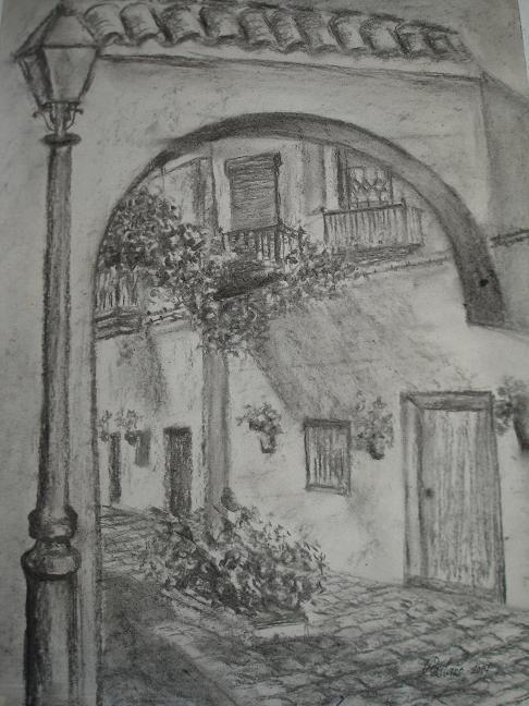 Resultado de imagen para dibujos a carboncillo de paisajes
