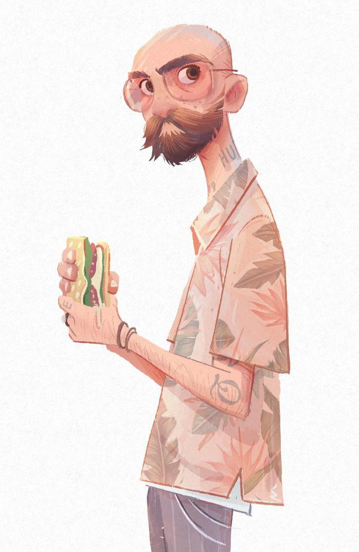 Closeup dude character design – noah demirci