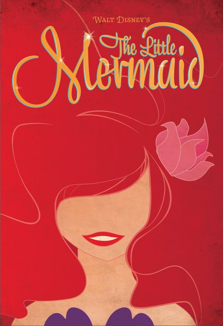 .Little Mermaids, Minimalist Movie Posters, Disney Princesses, Thelittlemermaid, Disney Posters, The Little Mermaid, Minimalist Poster, Minimal Movie Posters, Disney Movie