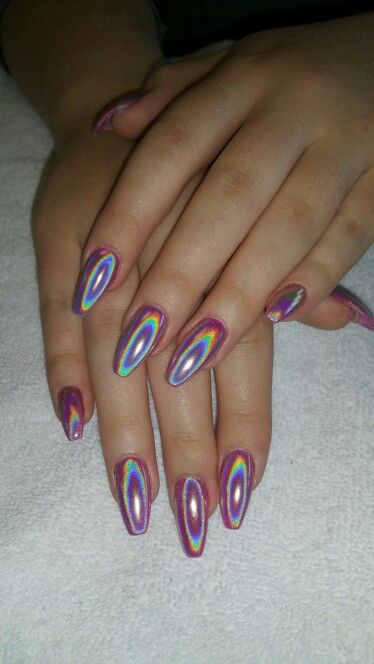 Holographic Nails: 15 Must-see Holographic Nails Pins