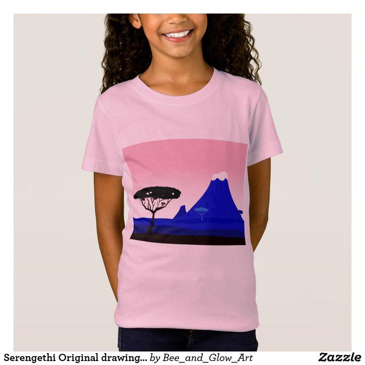 Serengethi Original drawing : Hills and Silhouette