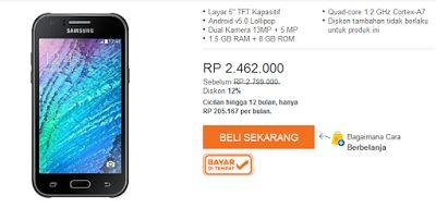 Samsung Galaxy J5 Dual SIM - 8 GB - Hitam   Lazada Indonesia