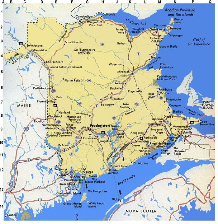 map of new brunswick canada we lived on the kingston peninsula